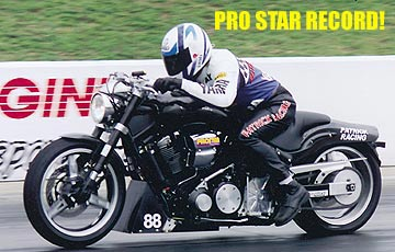 Patrick Dragrace on Yamaha Road Star Midnight